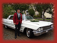 Elvis with Cadillac on Tour